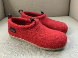 Giesswein Vent Wool Slippers Red EUR 38 US 7 NEW IN BOX