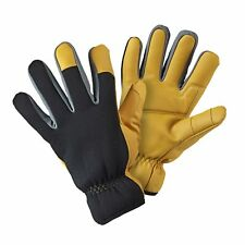 Briers Advanced Warm Lined Gloves, Yellow/Black, Large