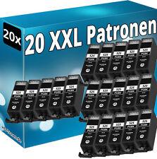 20x pgi-525bk tinta cartuchos para Canon ip4800 mg5100 mg5200 mg6100 mx715 mx895
