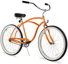 """26"""" Men Beach Cruiser Bicycle Bike Firmstrong Urban Orange"""