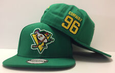 Charlie Conway D-5 Mighty Ducks Movie Authentic Hockey Snapback Hat Cap Flat
