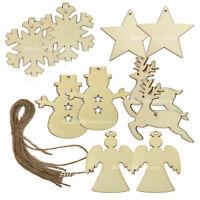 45 Christbaumschmuck Anhänger Holz Weihnachtsbaum Deko Engel Elche Sterne A