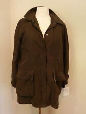 Jones New York Green Rain Coat Jacket Removable Lining Hood Size Large