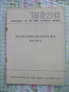 AN/UIC-1 Intercommunication Set  TM 11-2643