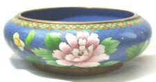Chinese Cloisonne Censor Bowl Vase Floral Vintage C7B