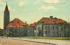 Baltimore Maryland~Big Tower, Red Roofs @ Womens College~1912 Postcard