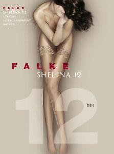 FALKE Shelina Stay Ups Damen Uni Ultra-Transparent glänzend 2 Stück