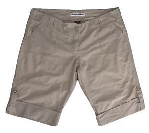 *NWOT* BLUE RIDGE Size 14 Ladies Cream Beige, 4-Pocket Cotton Shorts