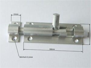 1 Stück  Grendelriegel Türriegel 64x25mm Aluminium  Schubriegel Riegel