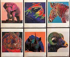 ANDY WARHOL Pop Art Endangered Species Portfolio of 6 prints