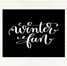 Black White Christmas Winter Fun Quote Dinner Table Placemat