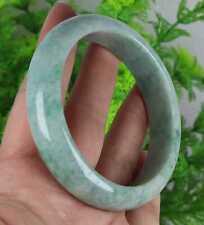 Jade jadeite Bangle Bracelet 98391H8 手镯 φ59.5 mm Certified Green Natural A