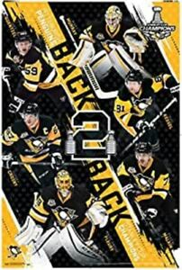 24x36 2017 NHL Stanley Cup Penguins Champions Poster, unopened