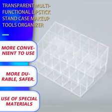 Women Clear Acrylic 24 Lipstick Holder Cosmetic Organizer Display Makeup Case Nd