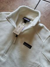 Nwt $119 Patagonia Womens Synchilla Marsupial Snap-T Pullover - Birch White, Sm