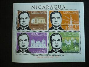 Stamps - Nicaragua - Scott# C601a - Souvenir Sheet