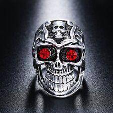 Terminator Skull Ring (Size W) Biker Punk Rocker Metaller Hippie Hipster Ring