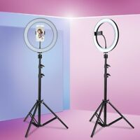 """10"""" LED Ring Light Kit + Stand Dimmable 5500K photography USB for Makeup Phone"""