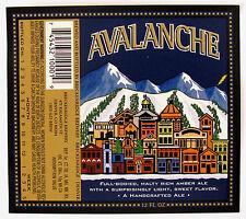 Breckenridge Brewery AVALANCHE beer label CO 12oz - Var. #2