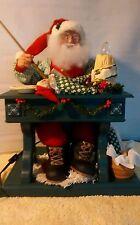 "LARGE ANIMATED HOLIDAY CREATIONS ""PAINTING SANTA"" w/ BOX WORKS CHRISTMAS"