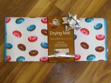 """DELICIOUS DONUTS DISH DRYING MAT~15""""x20""""~Reversible~Super Absorbent~NEW"""
