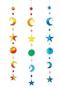 Sun, Moon, Star Resin Suncatcher with Beads