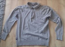 Pull gris Scott - col polo - Taille L