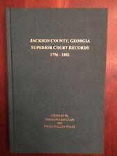 SIGNED Jackson County GEORGIA Superior County Records 1796-1803 Genealogy GA 1st