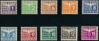 Stamp Germany Revenue Parteitag WWII 1935 3rd Reich Occupation Selection MNG