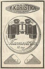 W9080 KORISTKA - Binoccolo Marenostrum - Pubblicità del 1917 - Vintage advert