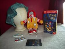 "Lot of Mc Donald's Collectables, Soft 9"" Ronald Doll, Magnets, VhS, Cap"
