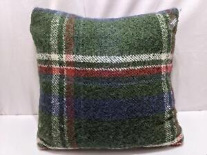 "Threshold Tartan Plaid Throw Pillow 24""x24"" Lodge Green Red Farm Life 1252"