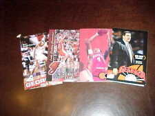 1998-00 Georgia Bulldogs Basketball Schedule Lot (4)
