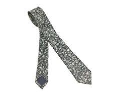 1950s-60s Mod Gray & Silver Sharkskin Tie Mad Men Era Vintage Skinny Necktie