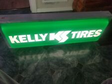 New Lighted Dealer Sign Kelly Tire 12 X 36 Double Sided Hanging Sign New