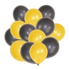 Party : Gold & Black Metallic Balloon size 12 50 pcs Party Decor
