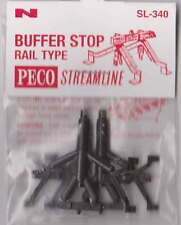 Peco SL-340 N Gauge Rail Type Buffer Stop Pack of 2 New