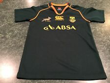 Vintage CANTERBURY South Africa Springboks Rugby Jersey YOUTH Size Medium
