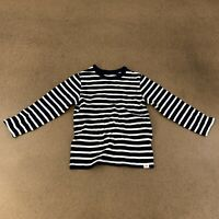 Baby Gap Toddler Boys Size 3 Years Navy Stripe Long Sleeve T-Shirt