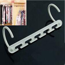 1Pcs Space Saving Wonder Magic Clothes Hanger Rack Clothing Hook Organizer Set A