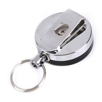 Resilience steel wire rope elastic key chain sporty retractable alarm keychaESha