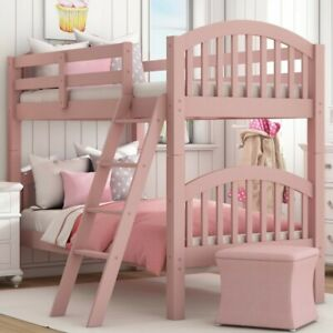 PINK Over Twin Standard Bunk Bed