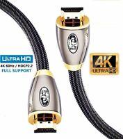 10M - Premium Braided HDMI Cablev2.0 High Speed HDTV UltraHD HD 2160p 4K@60Hz 3D
