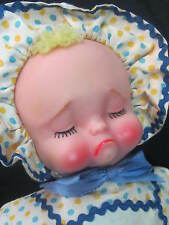 VINTAGE 1950s Topsy Turvy RUBBER 2 face TOY DOLL Happy SAD Knickerbocker Toy 12""