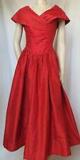 Laura Ashley Seidenkleid 36 rot Wildseide Hochzeit Abendkleid vintage Ballkleid