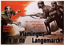 German WW2 Waffen SS Langemarck large Poster Belgium