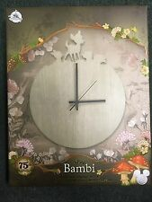 D23 Expo 2017 Bambi Wall Clock Limited Edition 75th Annicersary Edition In Hand
