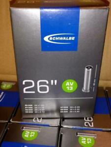 """Schwalbe AV13 MTB 26 Zoll Fahrradschlauch 26""""x1.50-2.50 Autoventil 40mm"""