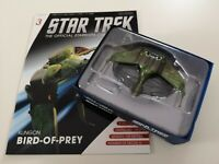 Star trek starships collection Eaglemoss #3 Klingon Bird of Prey w. Magazine