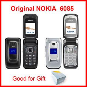 Nokia 6085 Mobile Phone 2G GSM Bluetooth Flip Cellphone Original Unlocked